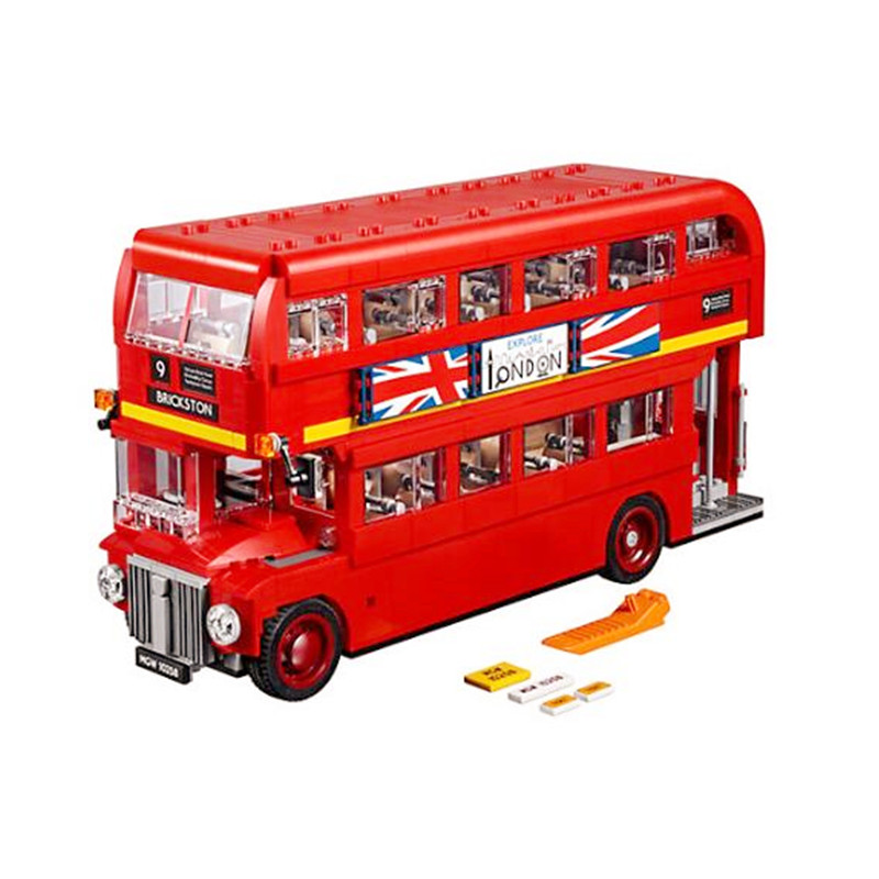 1716Pcs diy LOL Compatible With Playmobil 21045 bricks model Creator Expert The London Bus Building Blocks Toys for Children