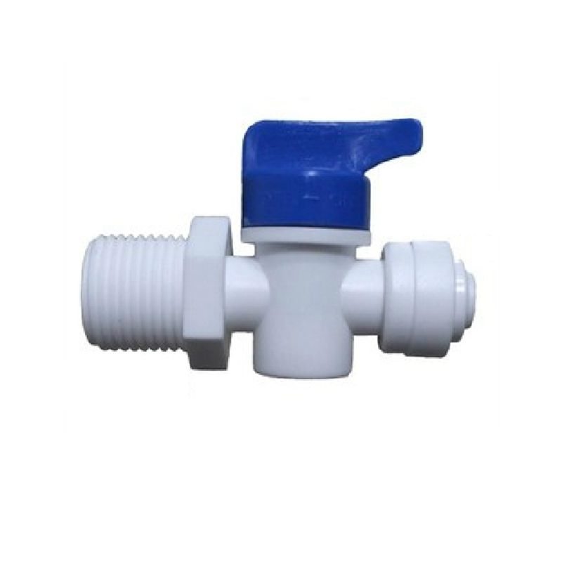 1/2 Male - 1/4 OD Tube PE Pipe Fitting Backwash Controlled Ball Valve Aquarium RO Water Filter Reverse Osmosis System