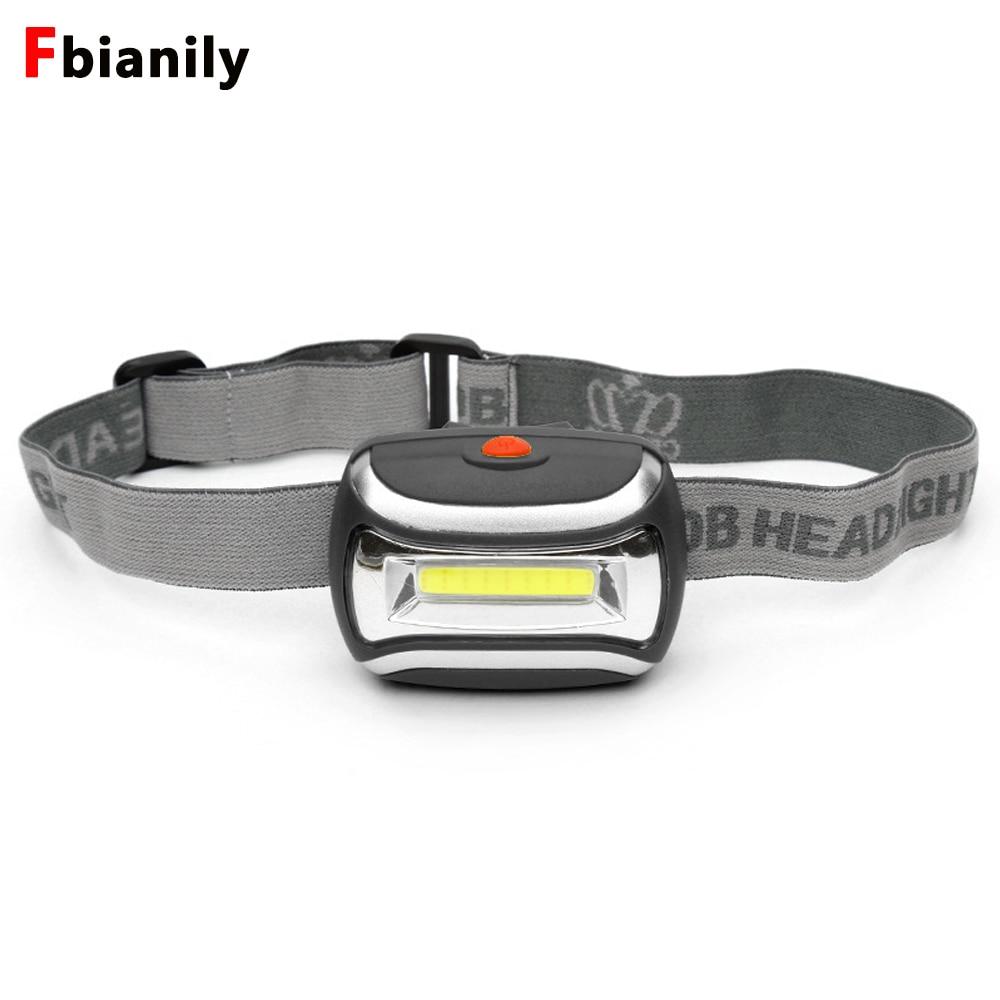 Mini 600Lm COB LED Headlight Headlamp Head Lamp Flashlight 3xAAA Battery Torch Camping Hiking Fishing Light
