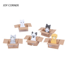 Mini Cute Memo Pads Self-adhesive Carton Cat Small Scratch Pad Notes Sticker N times Posted School Office JOY CORNER
