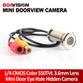 "BOAVISION New Upgrade 1/4"" 550TVL CMOS 3.6mm Lens Door Eye Hole Install Color Mini Security Camera Doorview CCTV Camera"
