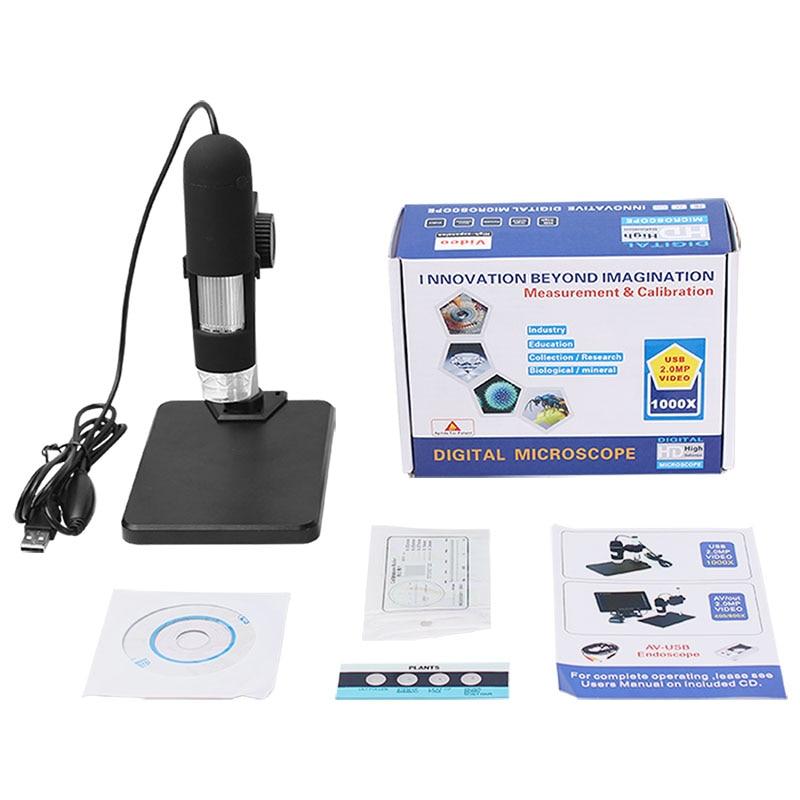 """""""AOMEKIE 1000X Zoom"""" USB skaitmeninės vaizdo kameros mikroskopas - Matavimo prietaisai - Nuotrauka 6"""