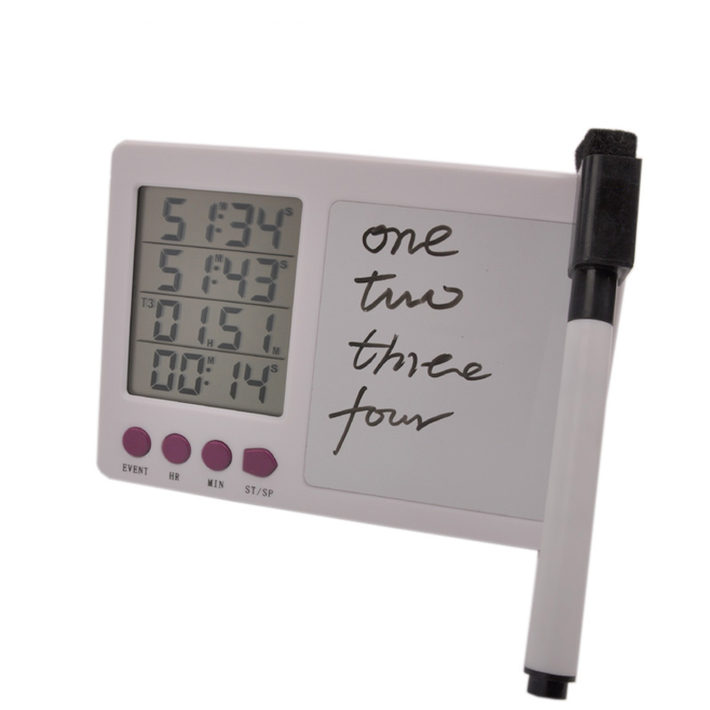 Free shipping digital timer large LCD 4 channel digital timer kitchen timer timer