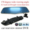 "hot sale Dual Lens 4.5"" inch Car Rearview Mirror DVR Video Recorder with Full HD Original Night Vision with a rear camera"