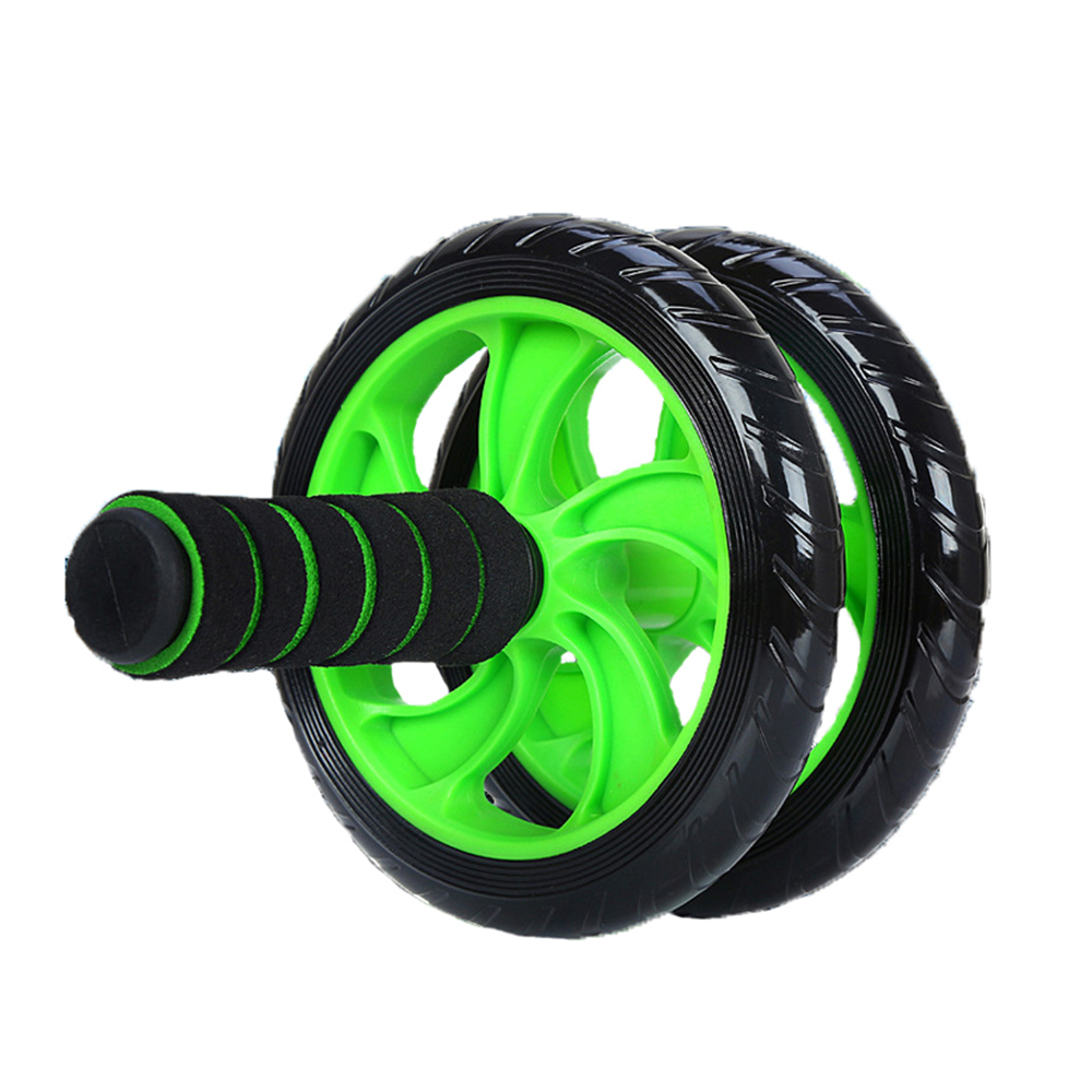New Keep Fit Wheels No Noise Abdominal Wheel Ab Roller With Doormat For Exercise Sports Fitness Gym Equipment image