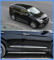 Frete grátis! alta qualidade ABS Cromos 4 pcs lado guarnição da porta/porta lateral streamer/lateral bar porta Para Honda CRV 2012-2016
