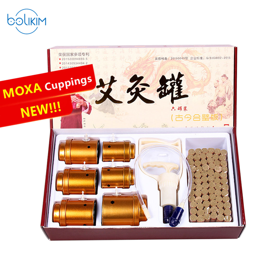 цена на Chinese Moxa Moxibustion Acupuncture Cupping Device Multifunctional Moxibustion Apparatus Box Moxa Grass Fire Moxibustion Pot