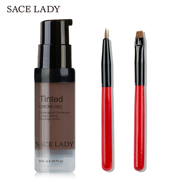 SACE LADY Henna Eyebrow Dye Gel Waterproof Makeup Shadow For Eye Brow Wax Long Lasting Tint Shade Make Up Paint Pomade Cosmetic 1