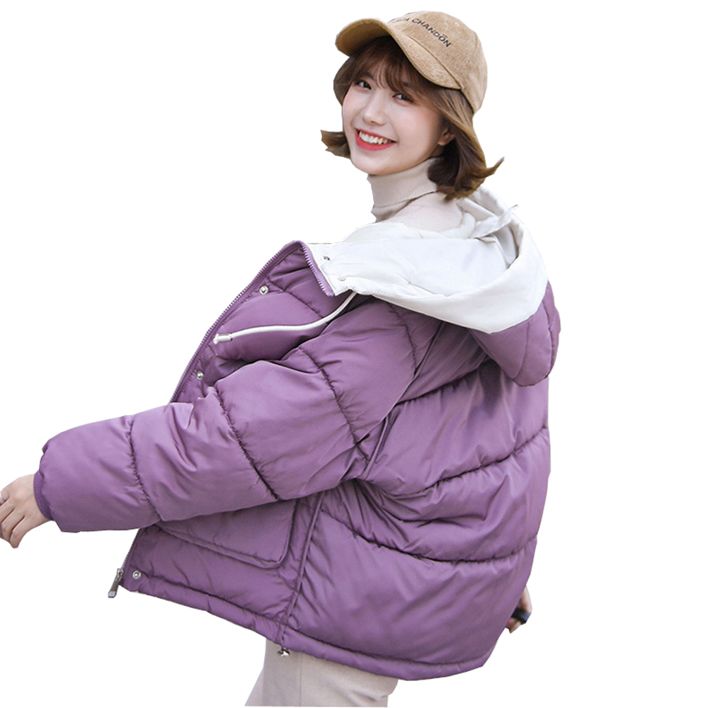 Coats   Parka   Womens Jackets down hooded Students' Short-style down Clothes Girls'Winter Cotton-padded 915