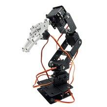 Aluminium 6DOF Robot Arm Mechanical Robotic Arm Clamp Claw Mount Kit for Diy Arduino