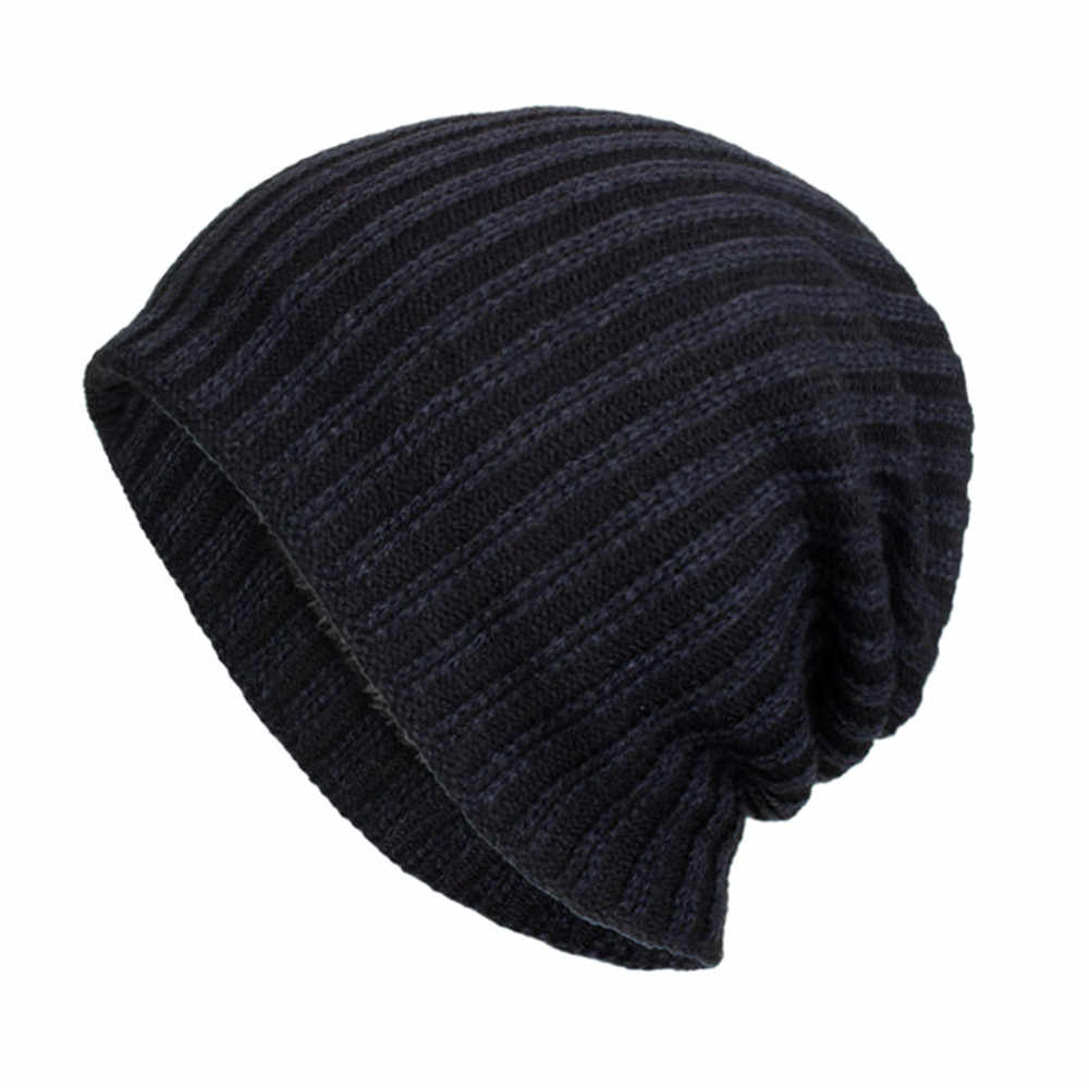 KANCOOLD Unisex Fashion Women Baggy Warm Hat Skullies Crochet Winter Wool Knitted Stylish Ski Beanie Skull Slouchy Caps PJ0821