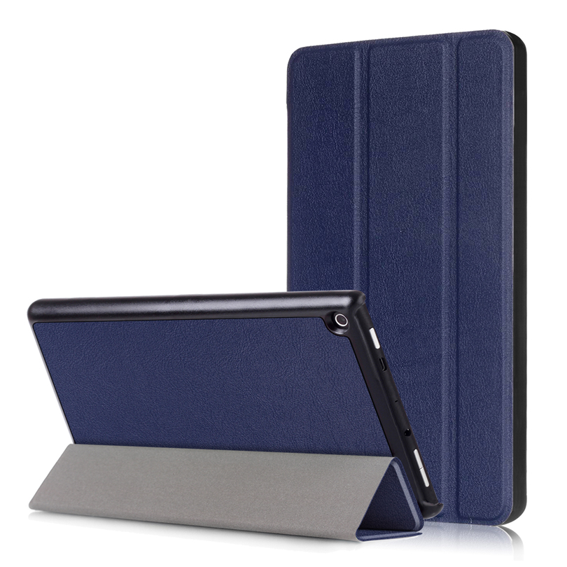 Ultra Slim Case for Amazon Kindle New Fire HD 8 2017 Version ,Trifold Solid PU Leather Smart Magnet Protective Stand Cover new kindle fire hd8 flip pu leather case cover colorful print luxury protective stand shell for amazon new kindle fire hd 8 2016