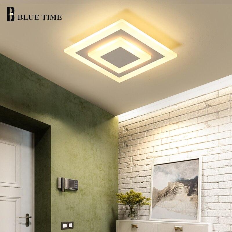 Blanc/Café Cadre Nouveau Moderne Carré Led Mur lampe LED 10 w Pour Couloir D'entrée Balcon de la Lampe S'allume Maison éclairage AC110V AC220V