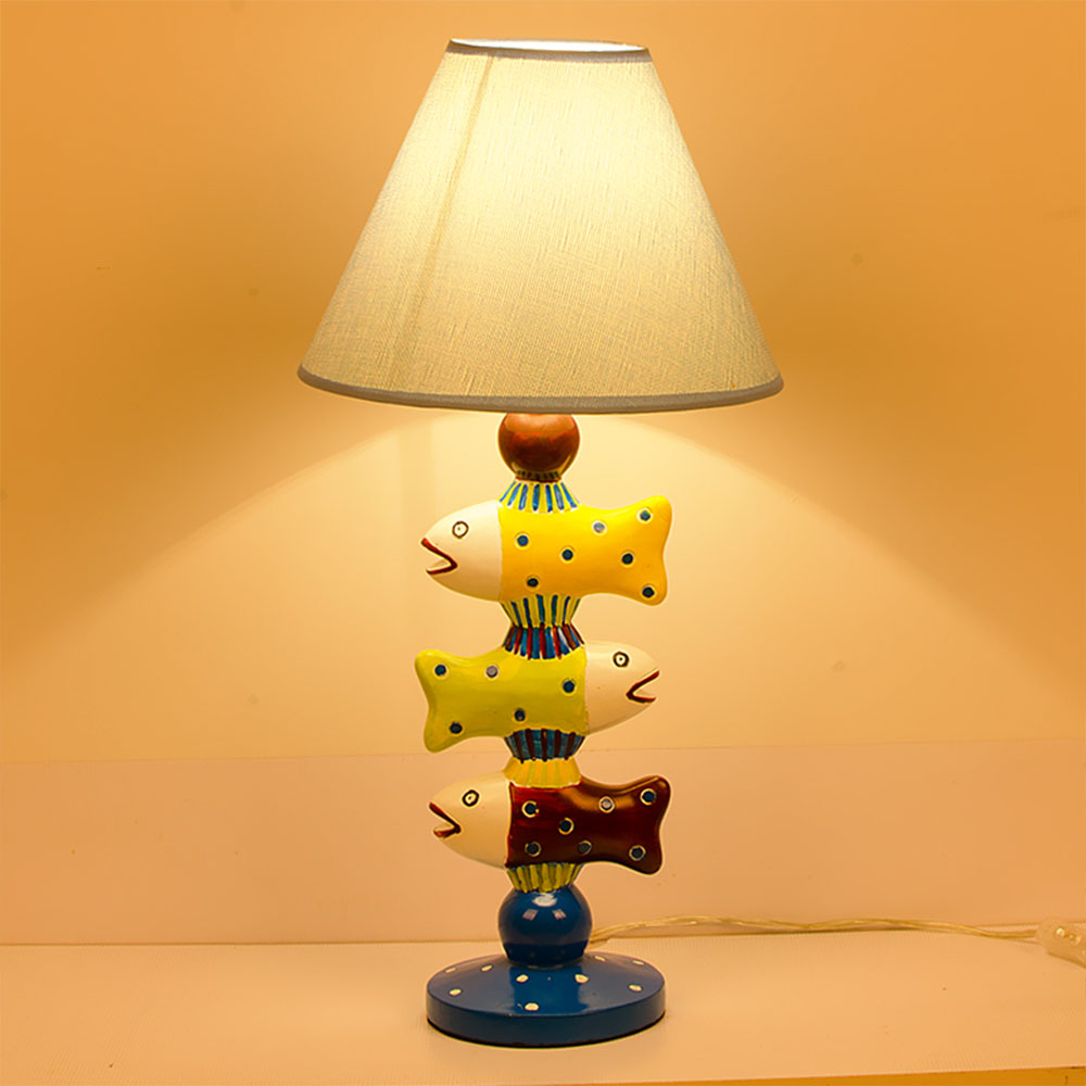LED Children's Room Lamp Small Fish Desk Lamp Bedroom Bedside Table Lamp Creative Children's Boy Cartoon Room Warm Table Lamps touch smart bedroom desk bedside lamp led lamp table light small desk lamp college students creative lamp color adjustable 1pc