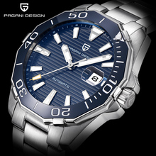 PAGANI DESIGN Men's Classic Diving Series Mechanical Watches Waterproof Steel Stainless Brand Luxury Watch Men Relogio Masculino