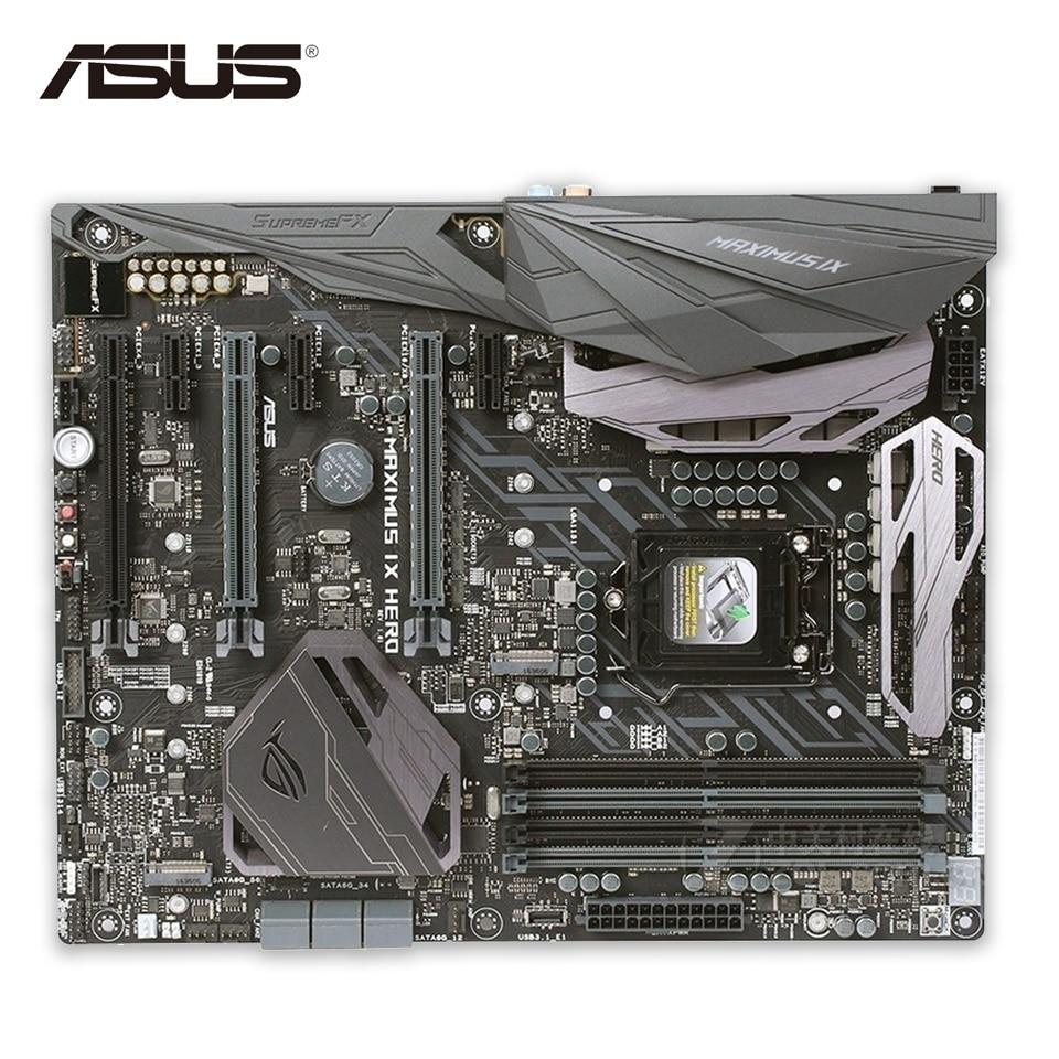 Asus ROG MAXIMUS IX HERO Original New Desktop Motherboard Z270 LGA 1151 DDR4 64G SATA3 USB3.1 ATX страна игрока rog maximus ix code m9c материнская плата встроенный wifi intel z270 lga 1151