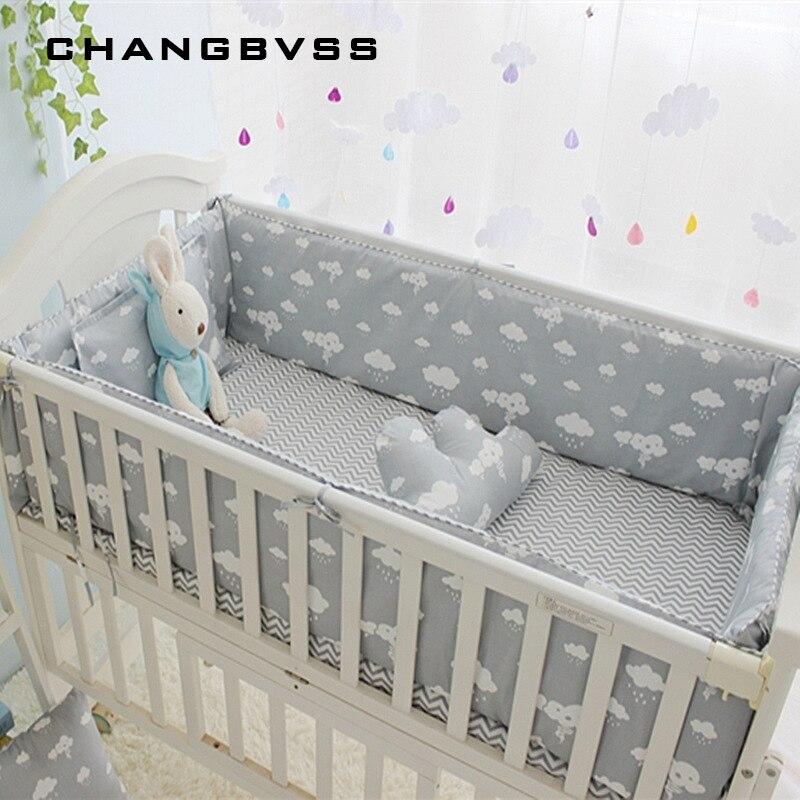 Новорожденных кроватки Постельное белье 5 шт. постельное белье 100% хлопок 5 шт. детская кроватка Постельное белье включают простыня бамперы с...