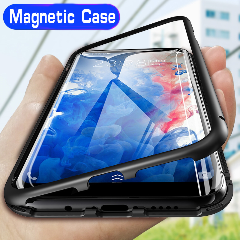Magnetic Adsorption Metal Case For Samsung Galaxy S8 S9 S10 Plus S10E S7 Edge Note 8 9 M20 M10 A30 A50 A7 A8 A9 J4 J6 Plus 2018-in Fitted Cases from Cellphones & Telecommunications on Aliexpress.com | Alibaba Group