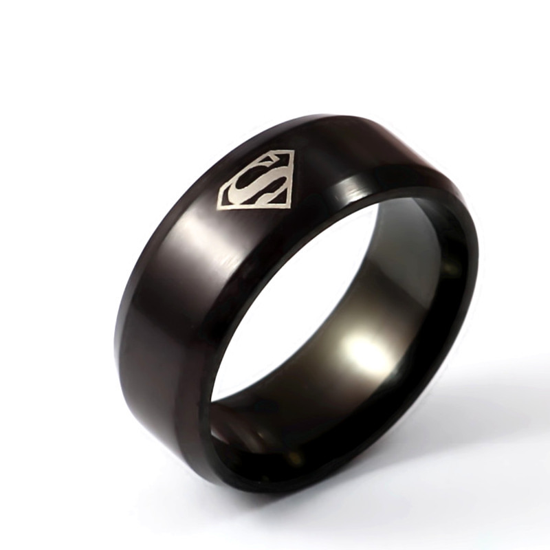 iMixBox Super man ring titanium stainless steel male ring superman