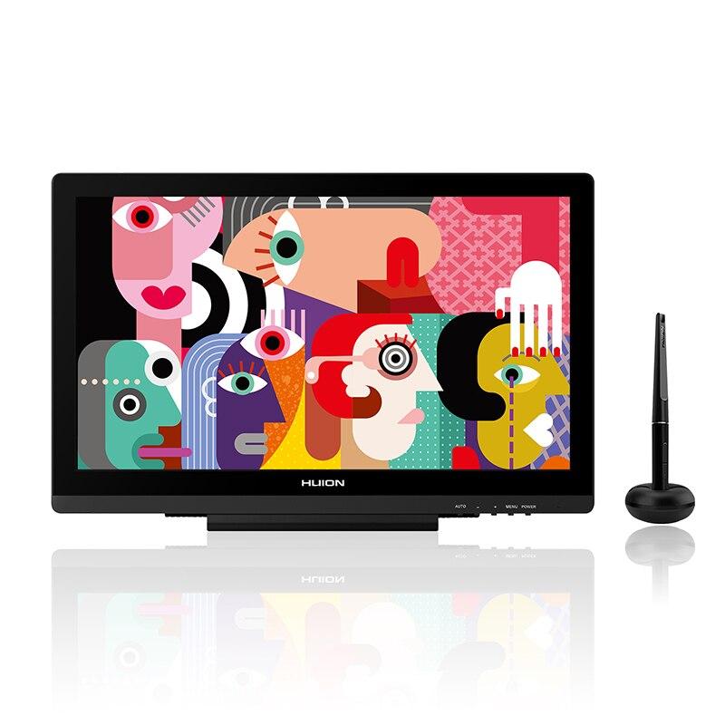Exibição Caneta HUION KAMVAS GT-191 V2 Battery-free Monitor Digital HD Gráficos Caneta Desenho Tablet Monitor com 8192 Caneta pressão