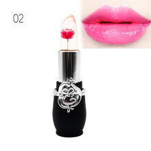 Waterproof Flower LipStick Jelly Flower Transparent Color Changing Lipstick Long Lasting With 6 Colors Flower Lipsticks Lip balm