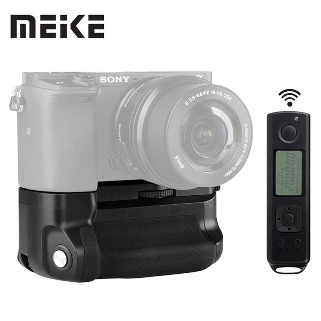 マイクス MK A6300 pro のバッテリーグリップホルダー 2.4 グラムワイヤレスリモコン sony A6300 A6400 A6000 1 またはで動作 2 NP FW50 バッテリー
