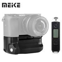 Meike MK A6300 pro Battery Grip Holder 2.4G Wireless Remote Control for sony A6000 A6300 work with 1or 2 NP FW50 battery