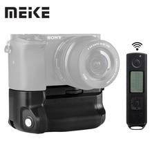 Đế Pin Meike MK A6300 PRO Pin Cầm Tay 2.4G Không Dây Điều Khiển Từ Xa Cho Sony A6300 A6400 A6000 Làm Việc Với 1, 2 NP FW50 Pin