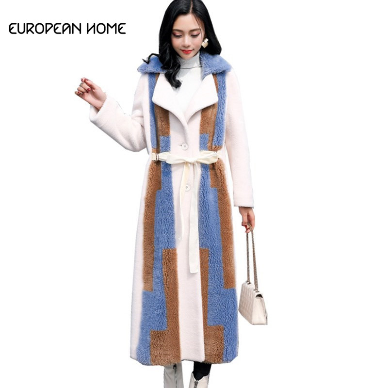 Rational Faux Fur Jacket Winter Coat Women New Korean Elegant High Quality Plus Size Thick Warm Fur Lamb Hair Long Coat Fur Womens Lq520 An Enriches And Nutrient For The Liver And Kidney Women's Clothing