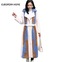 Faux Fur Jacket Winter Coat Women New Korean Elegant High Quality Plus Size Thick Warm Fur Lamb Hair Long Coat Fur Womens LQ520