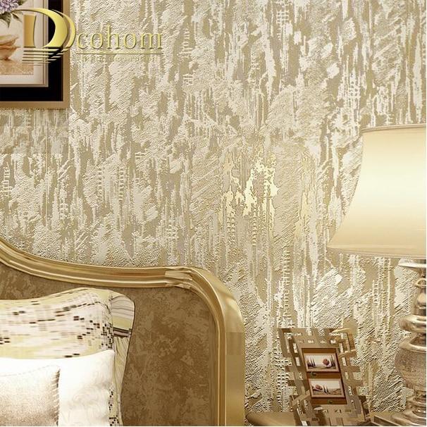 texturas en relieve de piedra arenisca abstracta modern flocado papel tapiz para la pared d