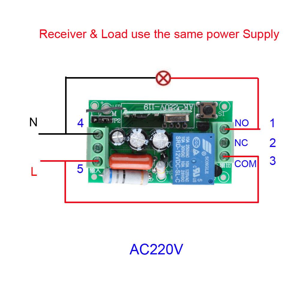 Buy Ac 220v 1ch 10a Relay Rf Remote Control Switch Pressed And Circuit Goes To On State A High Power Led 6 3 2 5