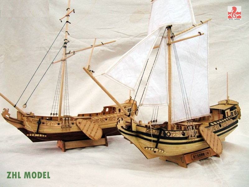 ZHL Holland Yacht Ships The Novice Recommended Model Ship Wood