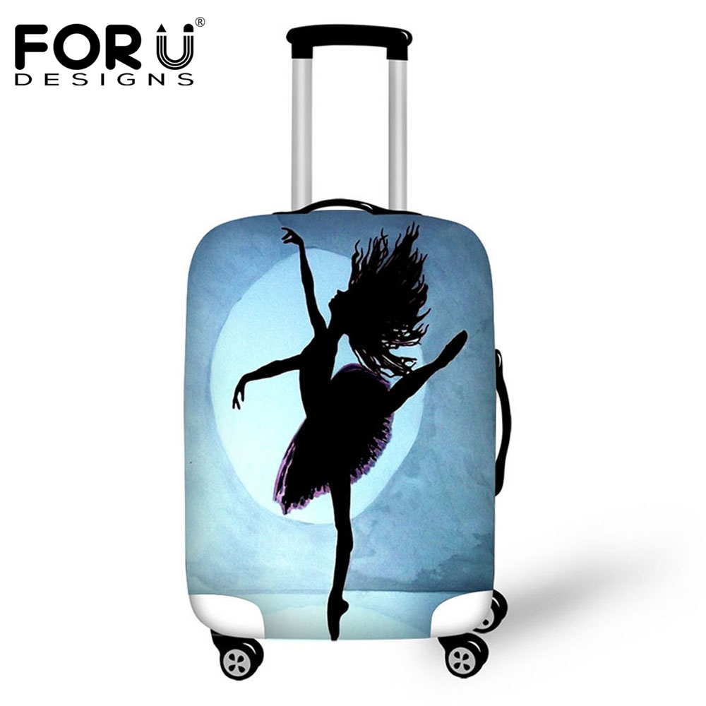 FORUDESIGNS Ballet Printing Luggage Protect Cover Suitcase Covers Waterproof Luggage Covers Accessory Travel Trolley Cases Cover