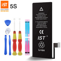 100 IST Original Mobile Phone Battery For IPhone 5S Real Capacity 1560mAh With Repair Tools Kit