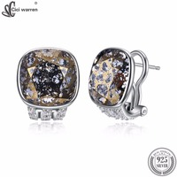 CICI WARREN Brand Fine Jewelry Women Earrings Made With Austria Crystal Clip Earrings Round Shape Earrings Brincos CWE102