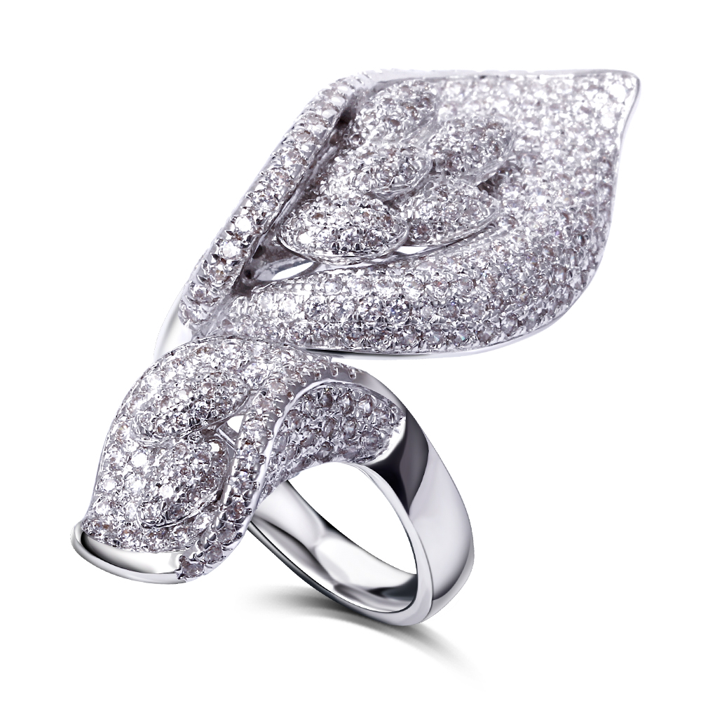 New Sellers Aaa Cubic Zirconia Big Cute Rings Lead Free Special Design Wedding  Bands For Women