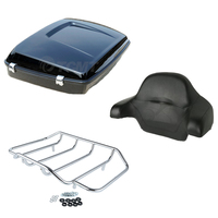 Motocycle Backrest Pad+Tour Pak Pack+ Luggage Rack For Harley Road King Electra Glide 97 13