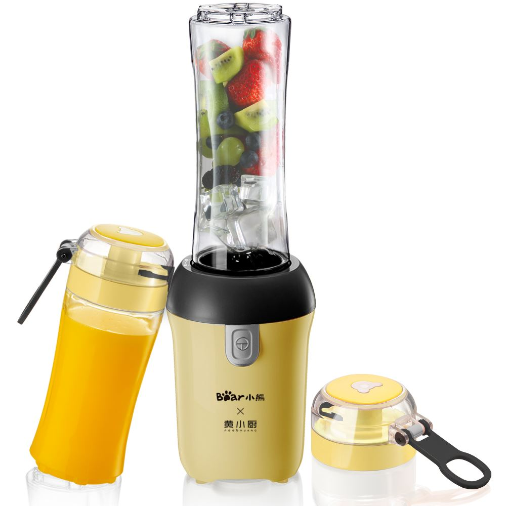 Bear Portable Electric Mini Juicer with 2 Bottles 300W Mini Blenders Mixers Summer Sports Kitchen Aid