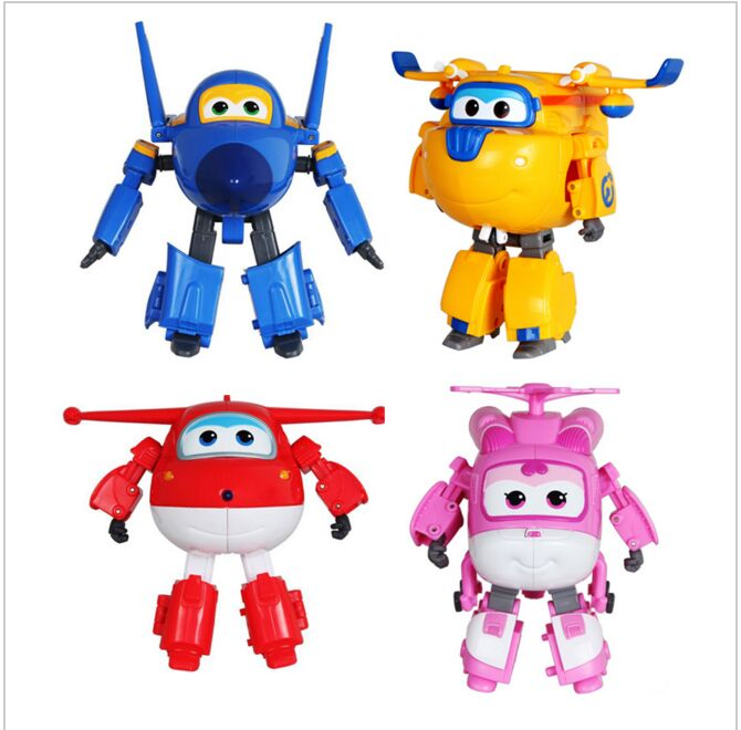 1 PCS Super Wings Toys Mini Airplane Robot Baby Toys Action Figures Super Wing Transformation Animation for Children Kids Gift