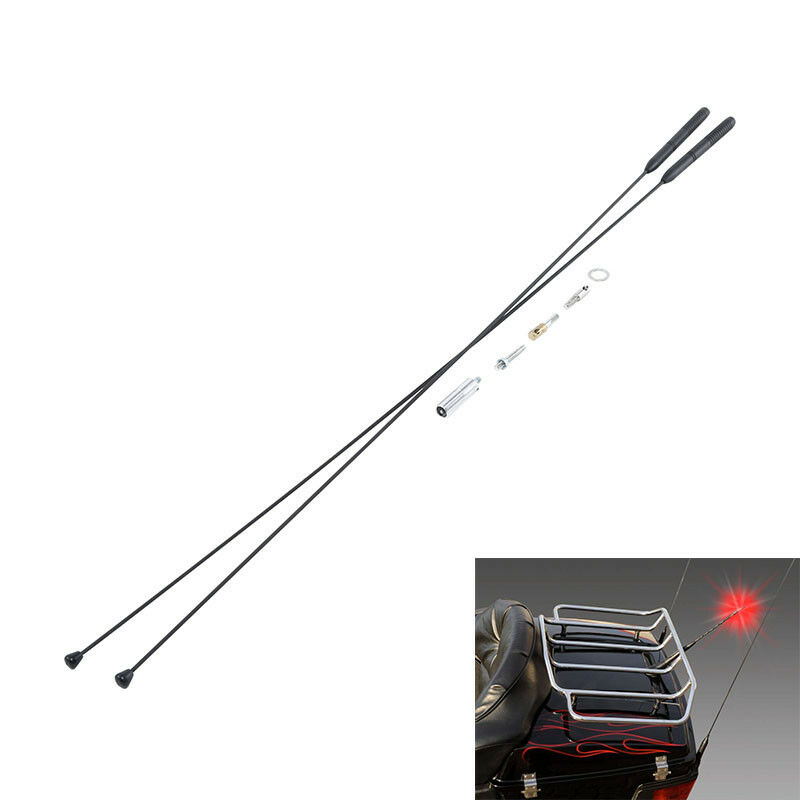 Motorcycle 2PCS 33AM FM Antenna For Harley Touring Road Glide 98-13 Electra Glide 86-13Motorcycle 2PCS 33AM FM Antenna For Harley Touring Road Glide 98-13 Electra Glide 86-13