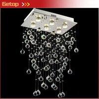 LED Modern Lustre Crystal Light Foyer Dining room Droplight Pandent Lamp For Living Room 90 260V Restaurant Lighting Fixtures