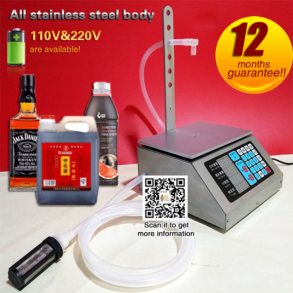 Automatic Weighing And Quantitative Filling Machine Liquor Beverage Milk Liquid Small Scale Packing Machine NC Filling High Prec
