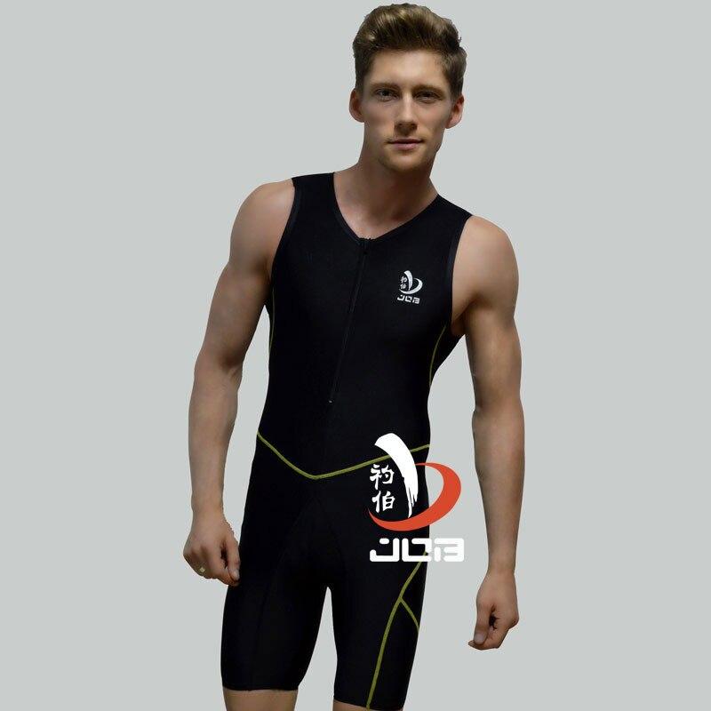 Job NSA Short Sleeve Swimwear Women One Piece Swimsuit Men Swimming bodysuit Competitive Swimming Suit Plus Size men's Swimsui