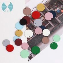 DIY матовые цветные Серьги Материал Спрей резиновая краска Простой Круглый кусок кулон кольцо серьги аксессуары