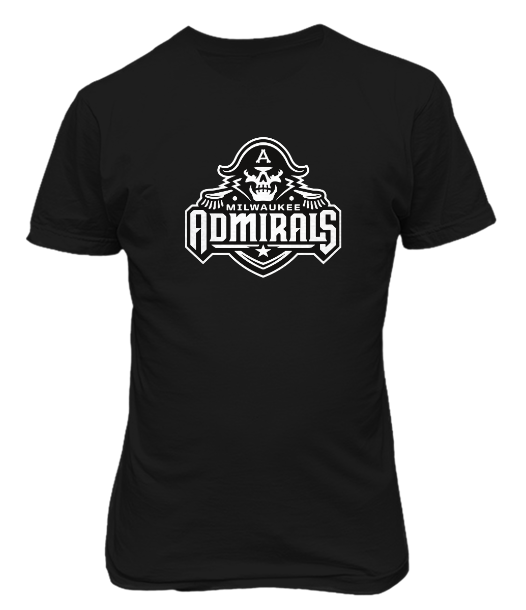 2018 New Mens Milwaukee Admirals Hockey Remington Logo Print T