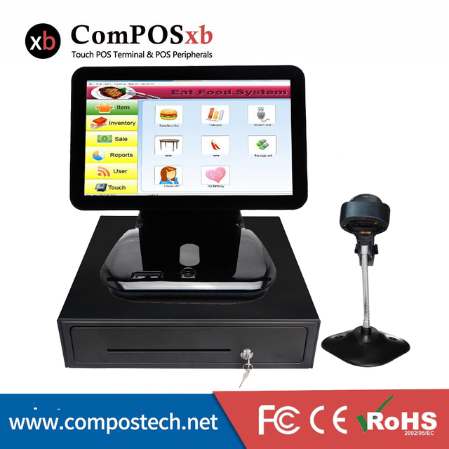 Electronic Cash Register 15.6 inch All-in-one capacitive Touchscreen POS terminal/Restaurant POS System