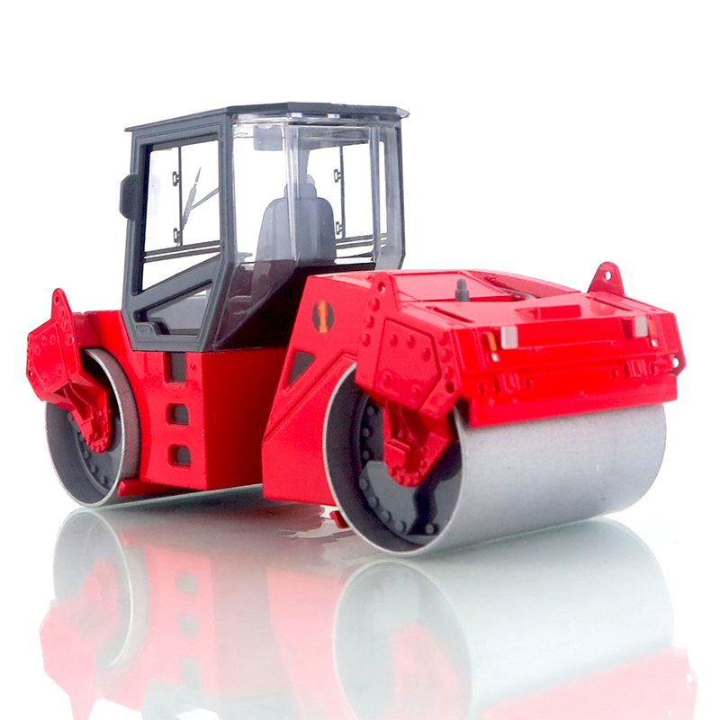 1:25 High Simulation Diecast Alloy Double Road Roller Truck Toy Car Mini Diecast Engineering Drum Roller Car Model For Boy Gift