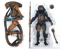 2pcs Sci fi SEGA Video Game Appearance Predator 2 City Hunter + Alien 3 Dog Alien NECA 18cm Action Figure Toys