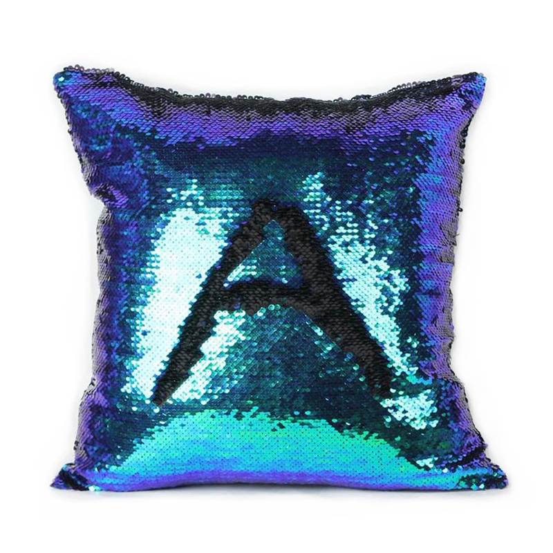 Glitter Cushion Cover 10 Kinds Double Color Sequins Throw Pillow Case Cafe Home Decor Levert ...